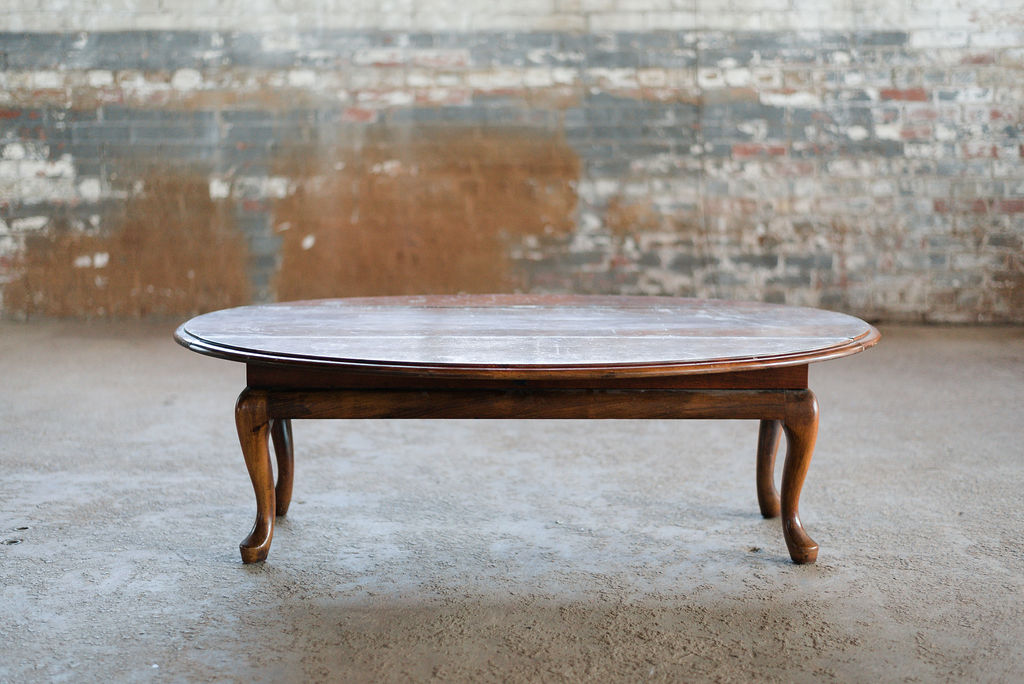 Queen Anne Coffee Table - Vintage Wood