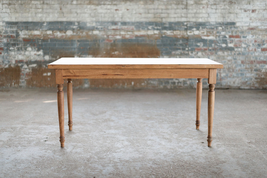 Rain Petite Farm Table - Wood