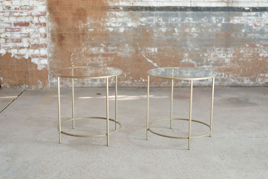 Nola End Tables - Gold