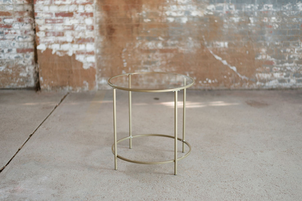 Nola End Table - Gold