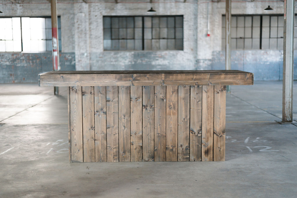 Large Guthrie Bar - Wooden Rustic