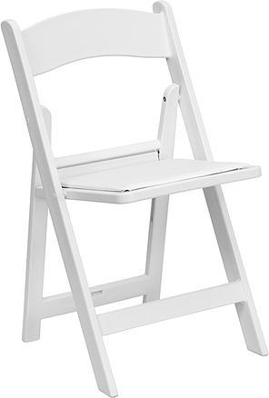 Folding Chair - White Garden