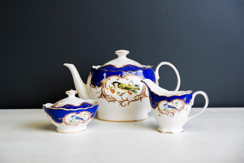 Blue Bird Tea Set