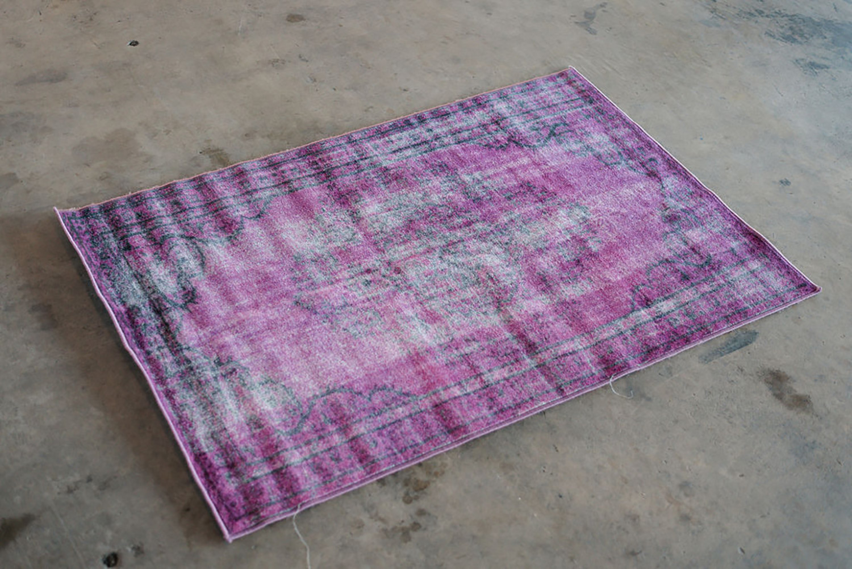 Overdyed Vintage Purple 5x7