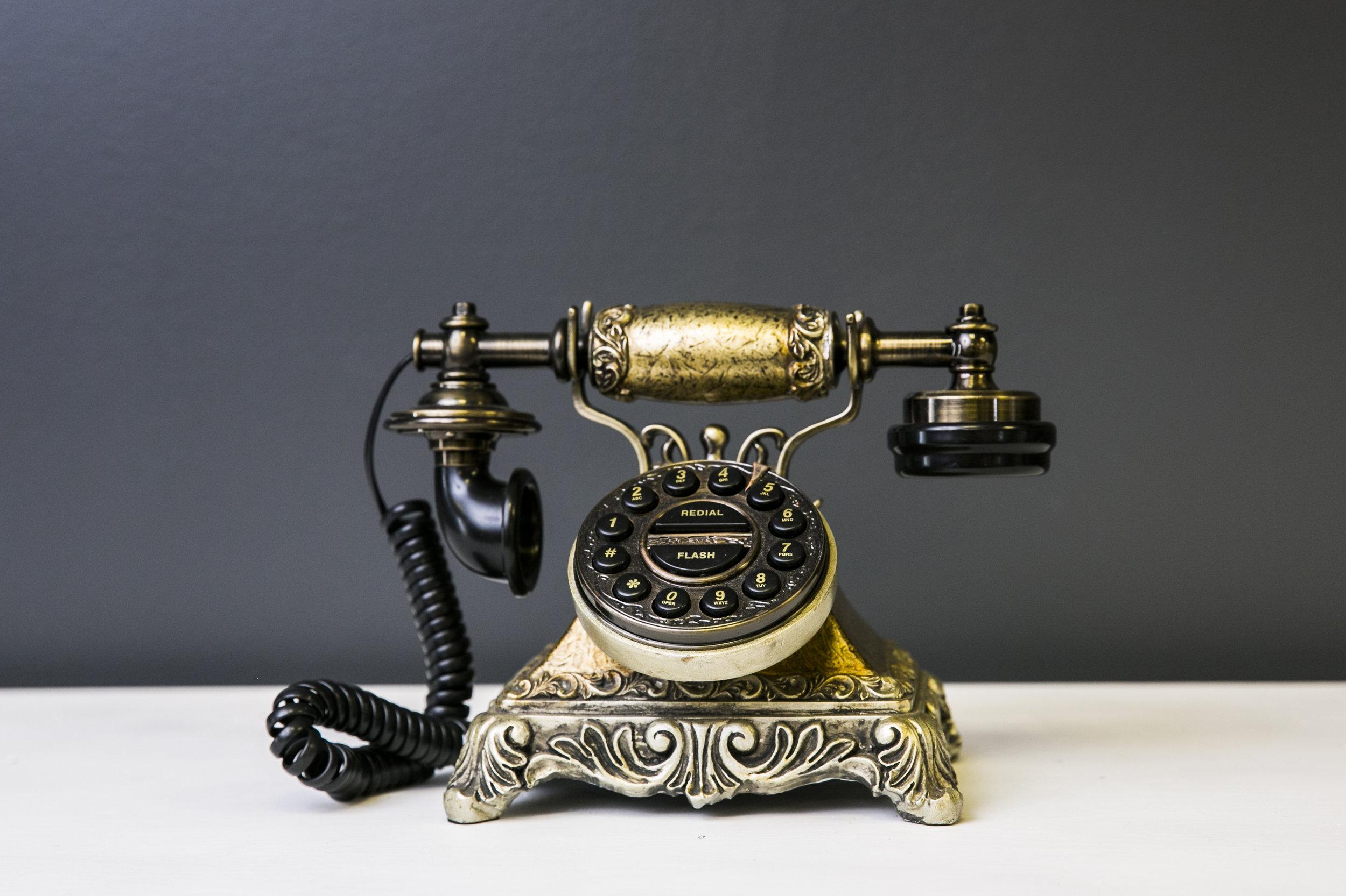 Victorian Telephone - Bronze