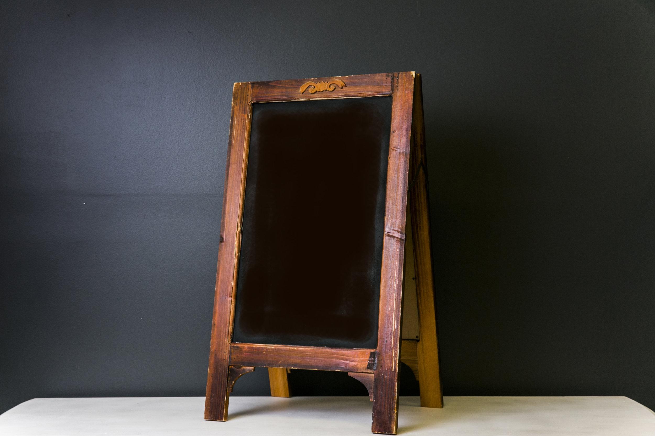 Bennet A-Frame Chalkboard (Brown) 25 x 17 (Quantity 2)