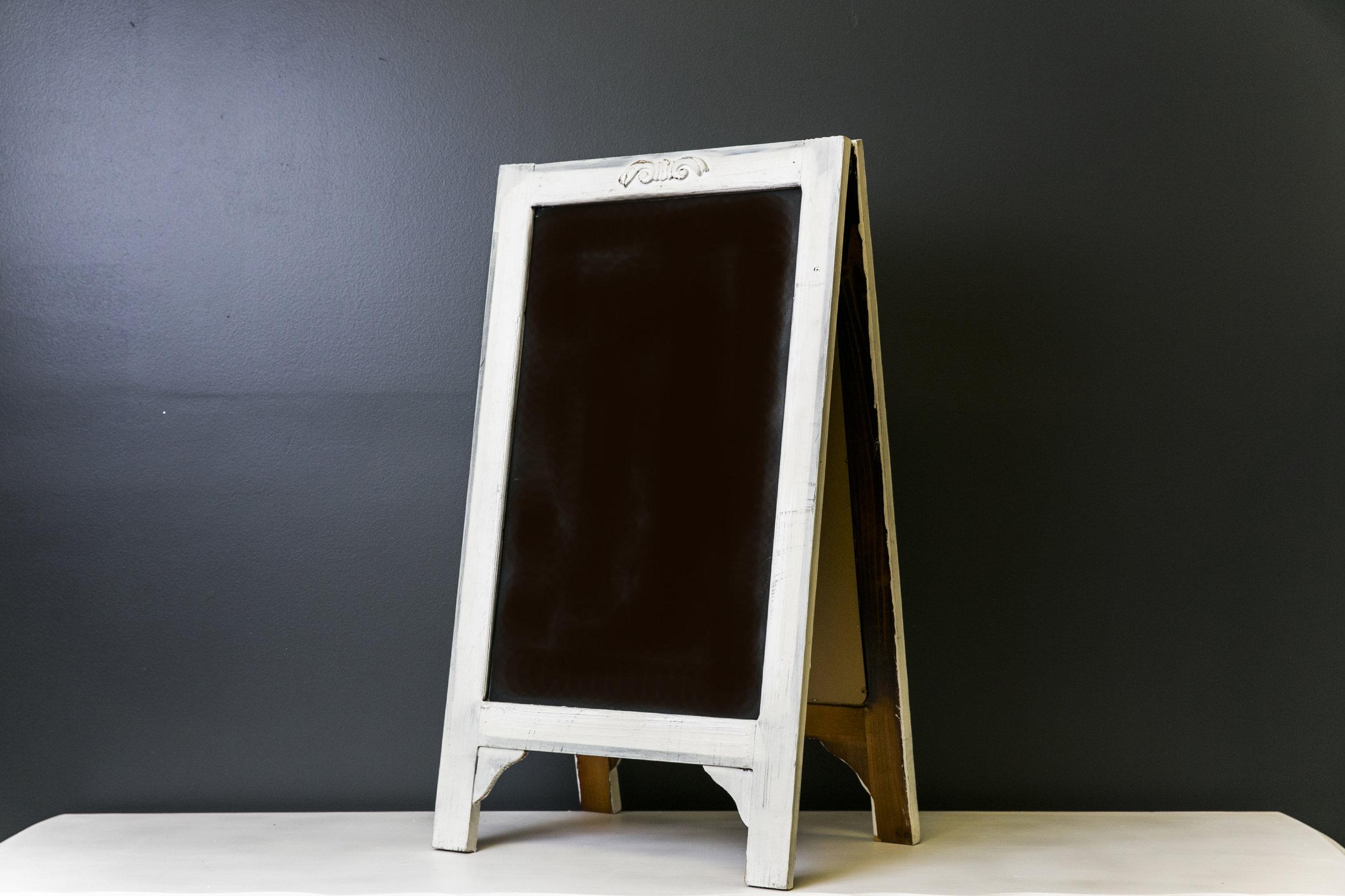 Bennet A-Frame Chalkboard (White) 25 x 17