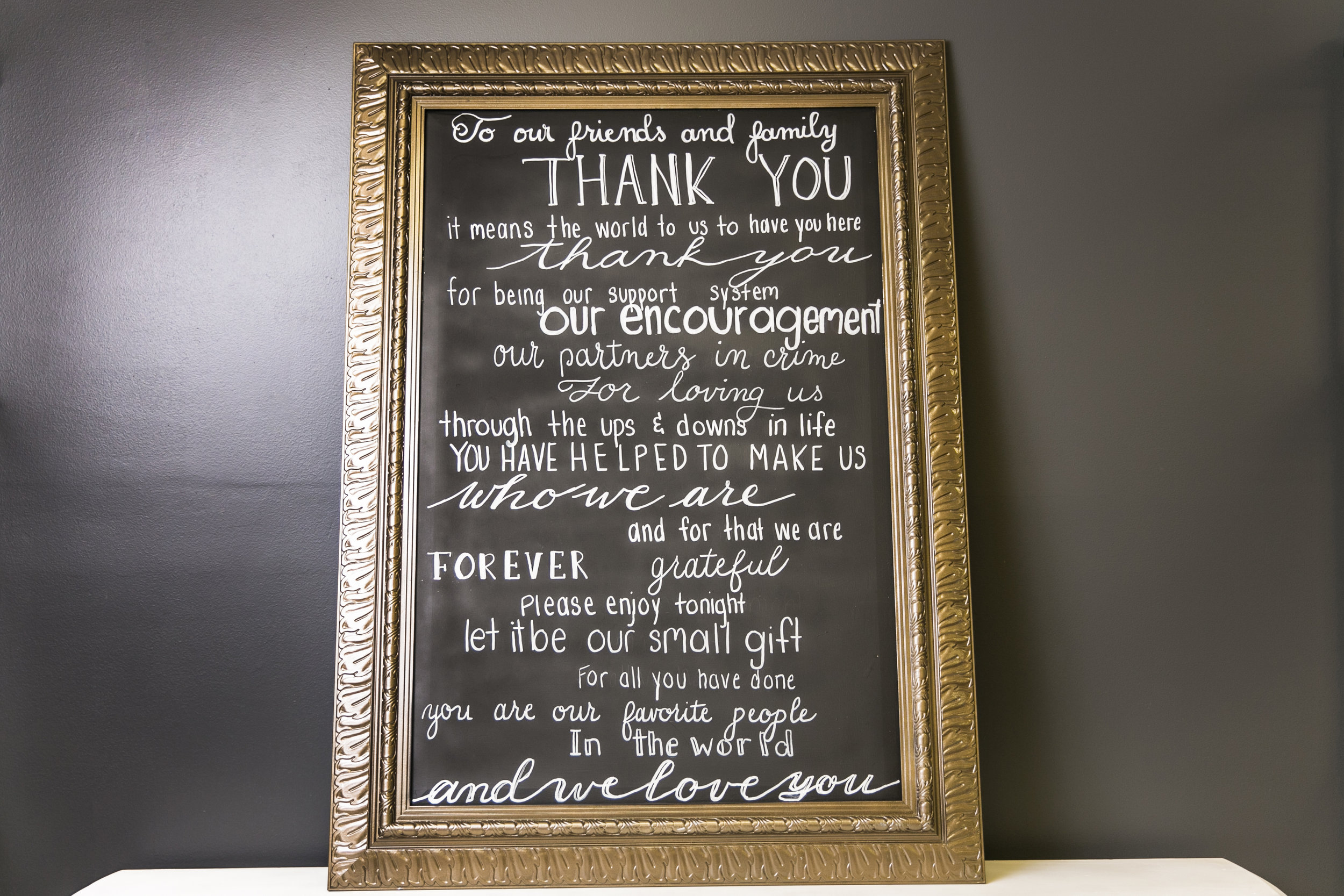 Chalkboard Sign - Thank You