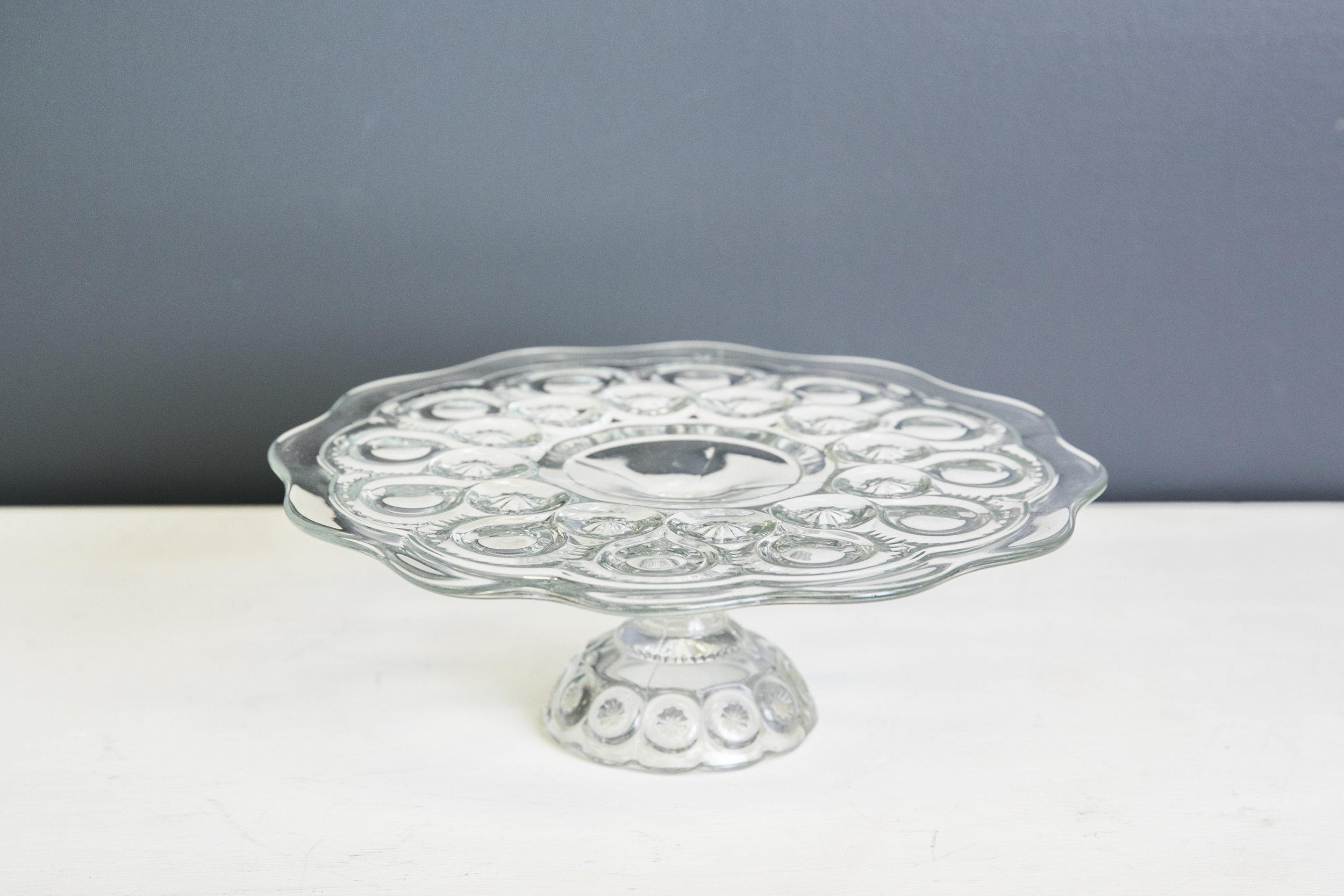 Julia Vintage Cake Plate Stand - Glass