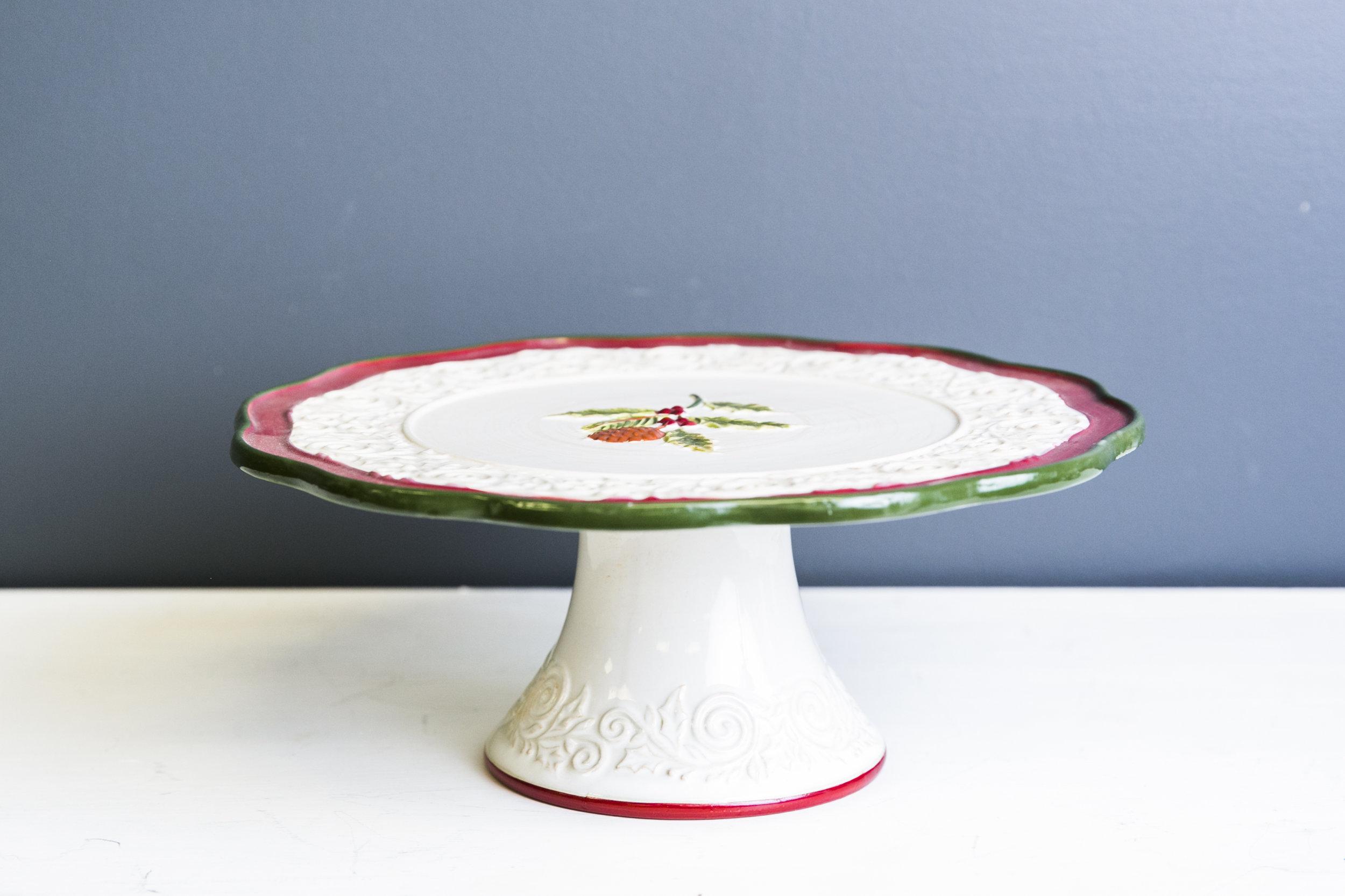 Noel Cake Plate Stand