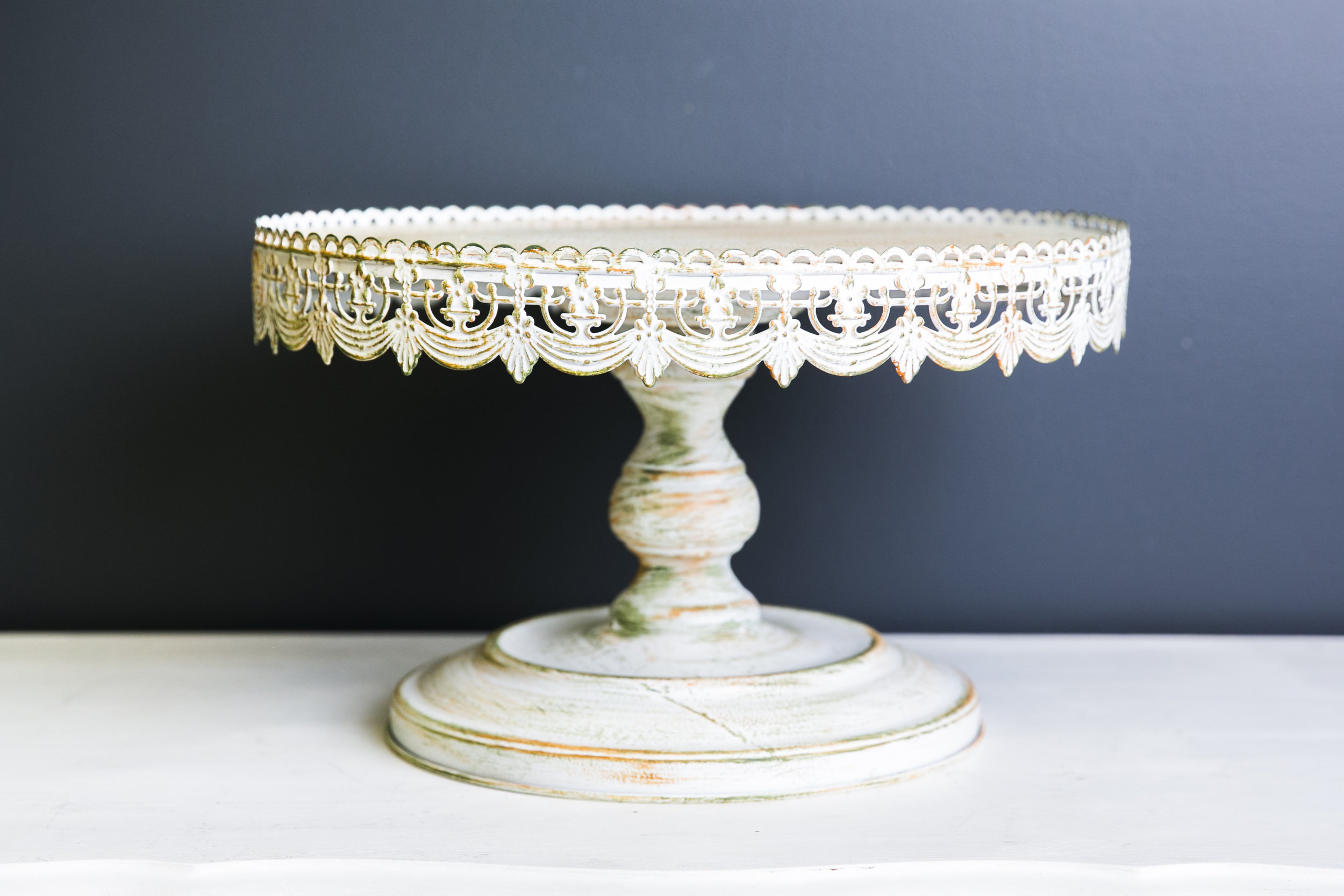 White Vintage Cake Stand Plate