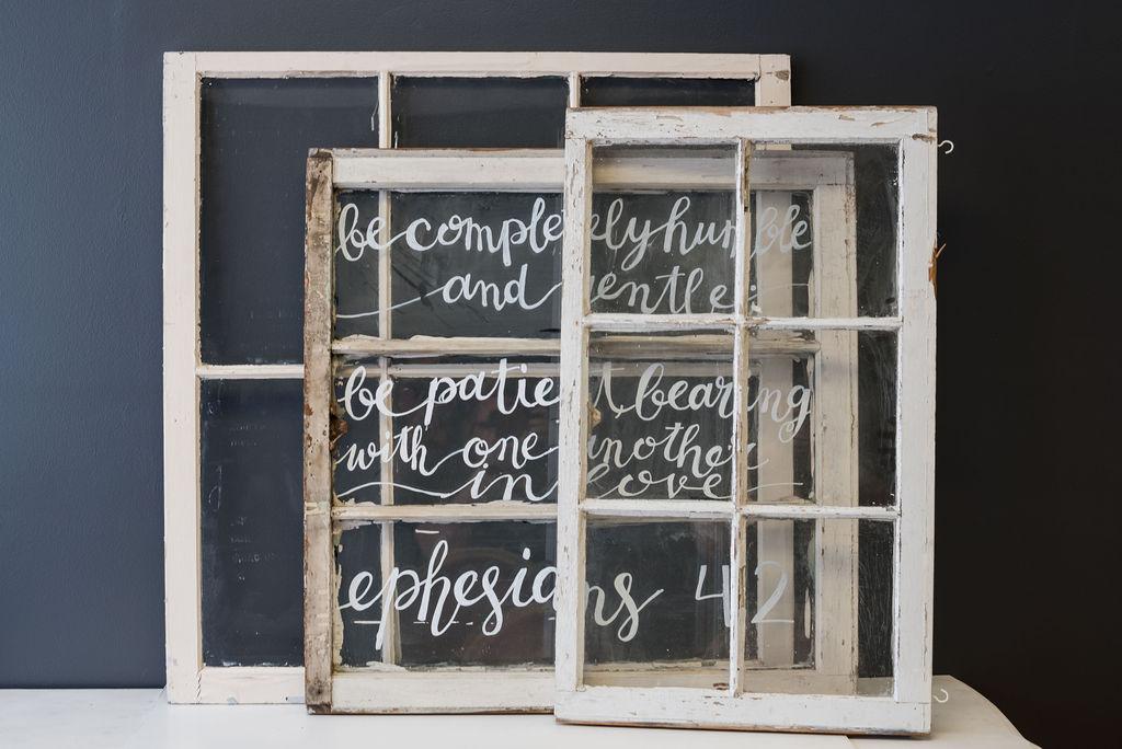 Assorted Vintage Window Panes