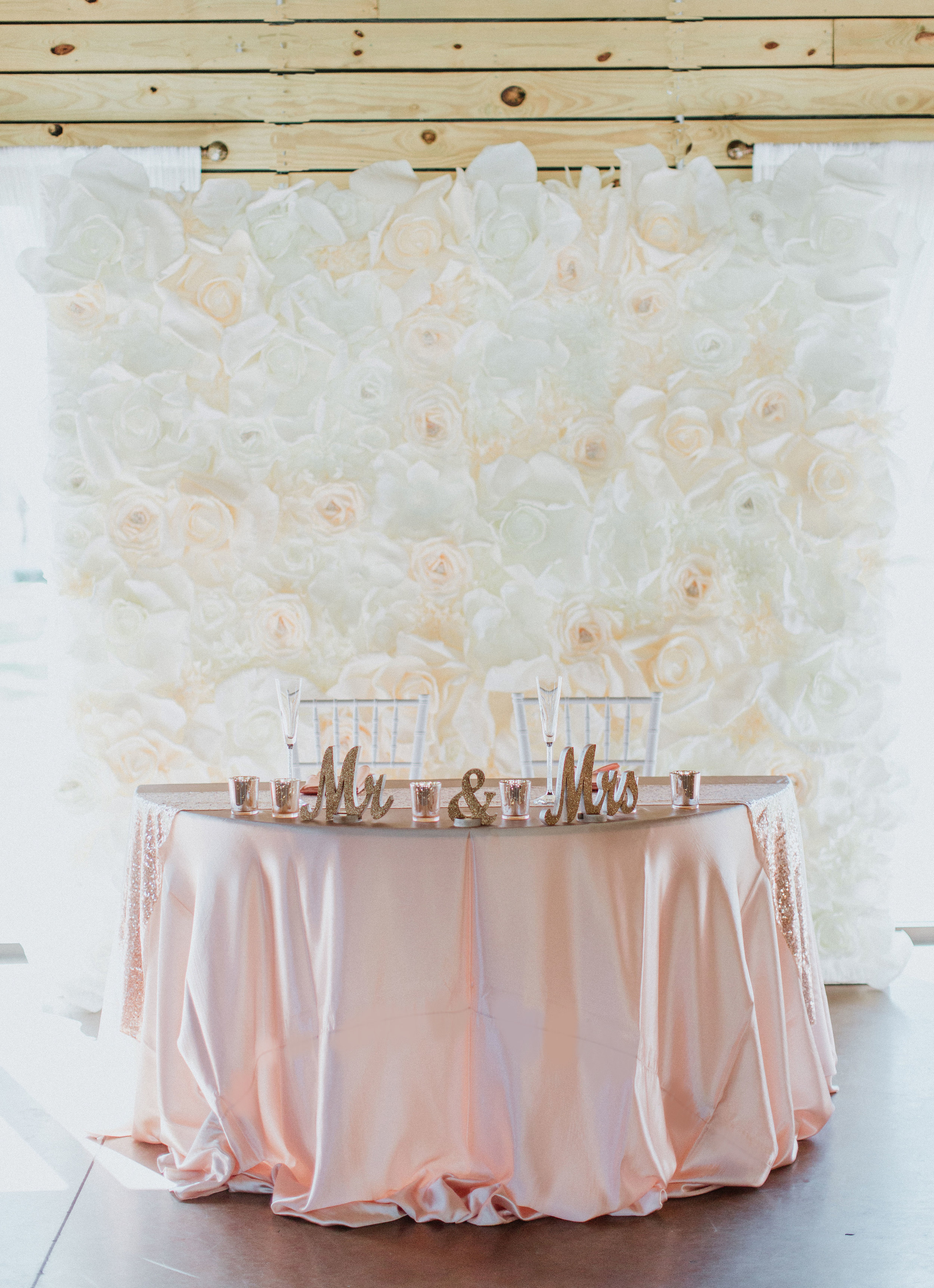 Flower Wall Backdrop- Ivory and White