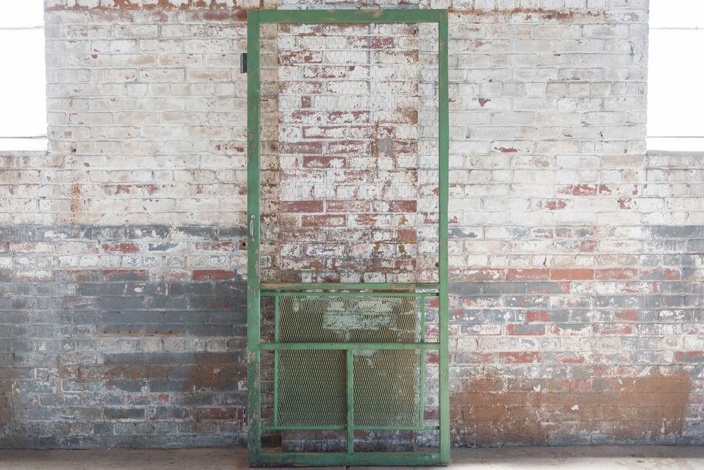 Vintage Green Screen Door
