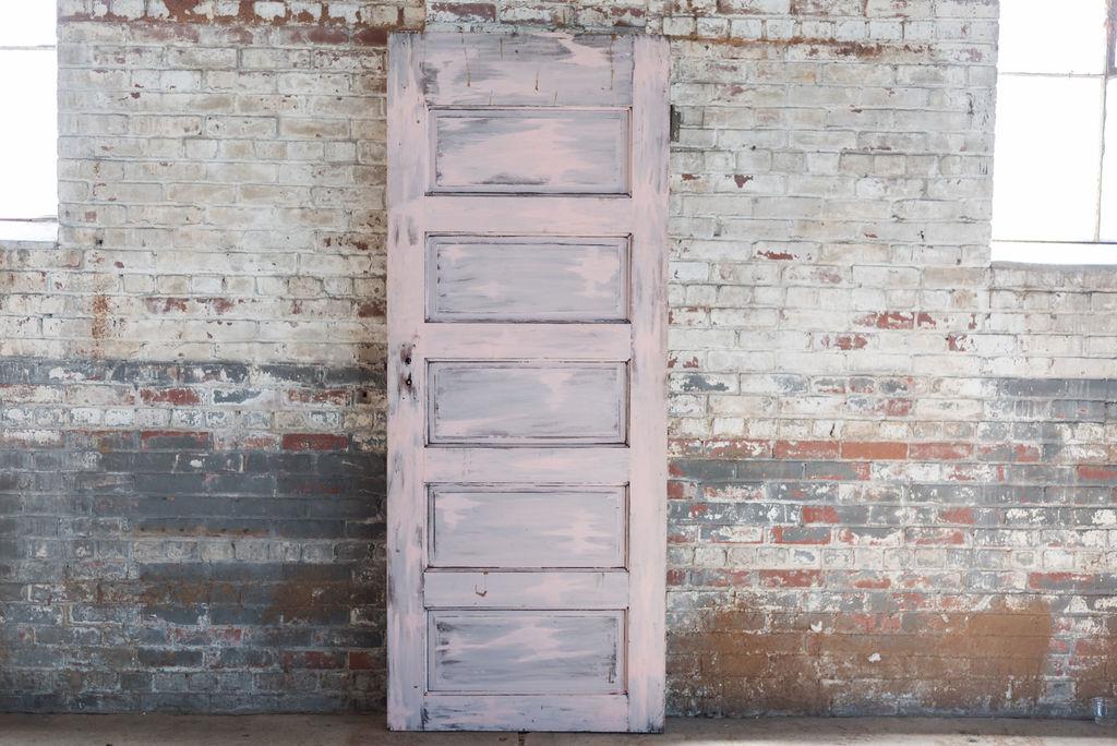 Vintage Pink Wooden Door Door