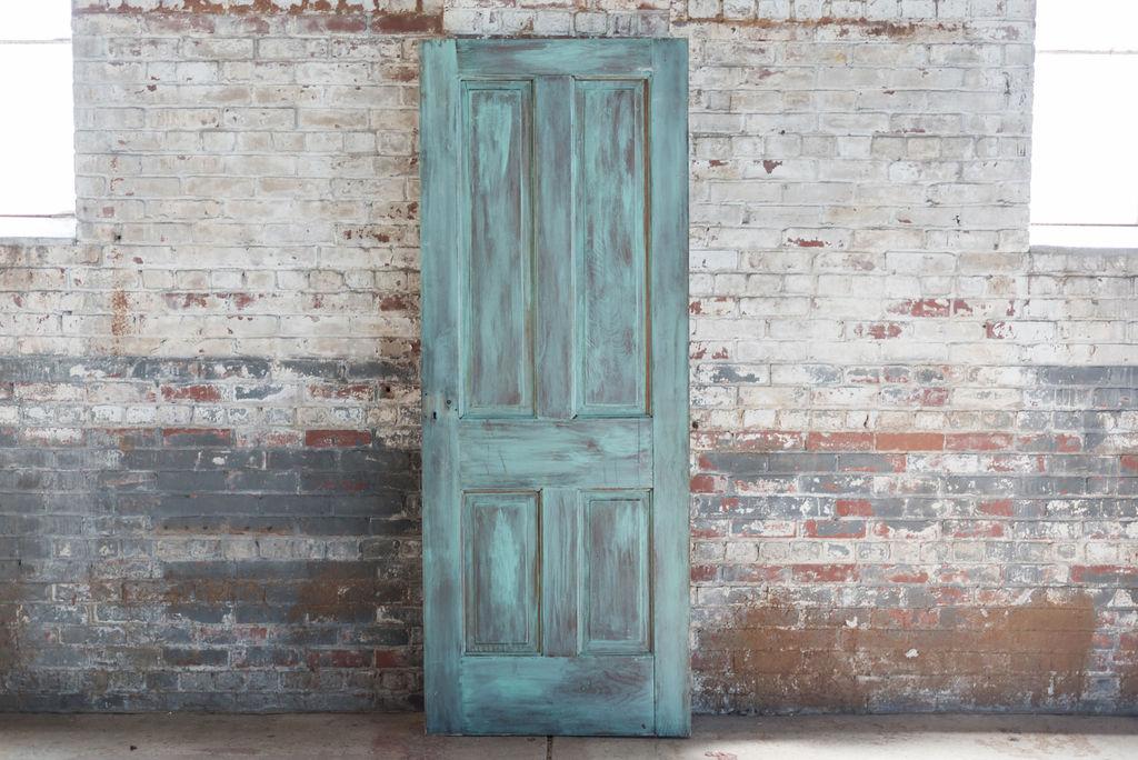 Vintage Teal Wooden Door Door