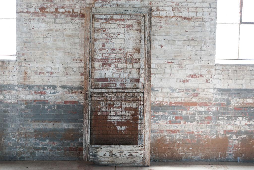 Vintage Wooden Screen Door
