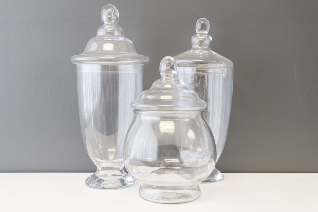Assorted Glass Apothecary Jars