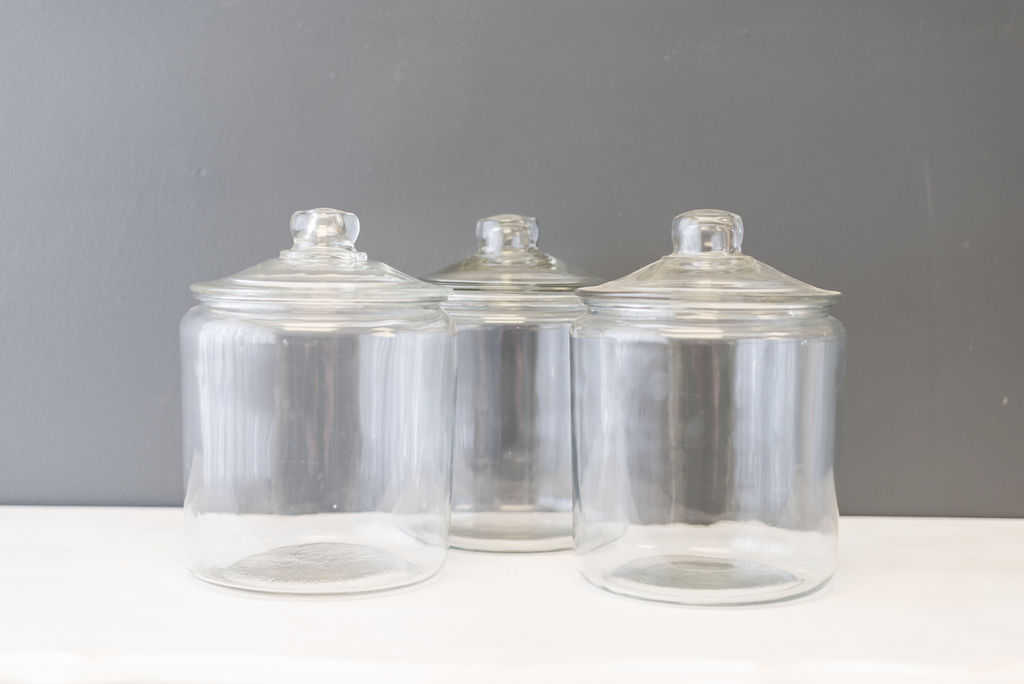 Assorted Glass Cookie Jars