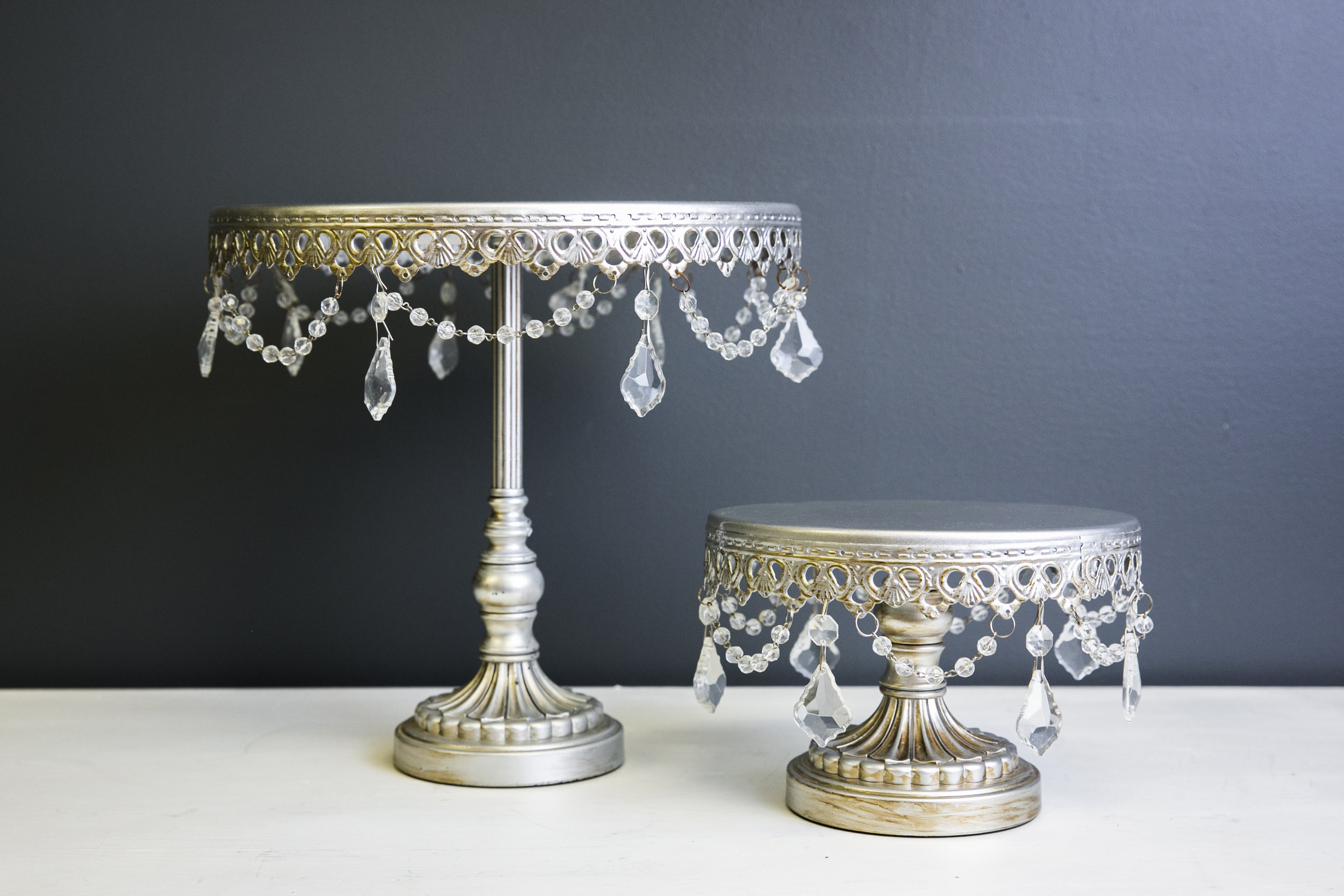 Cake Stand - Sophia Silver (Small and Large)