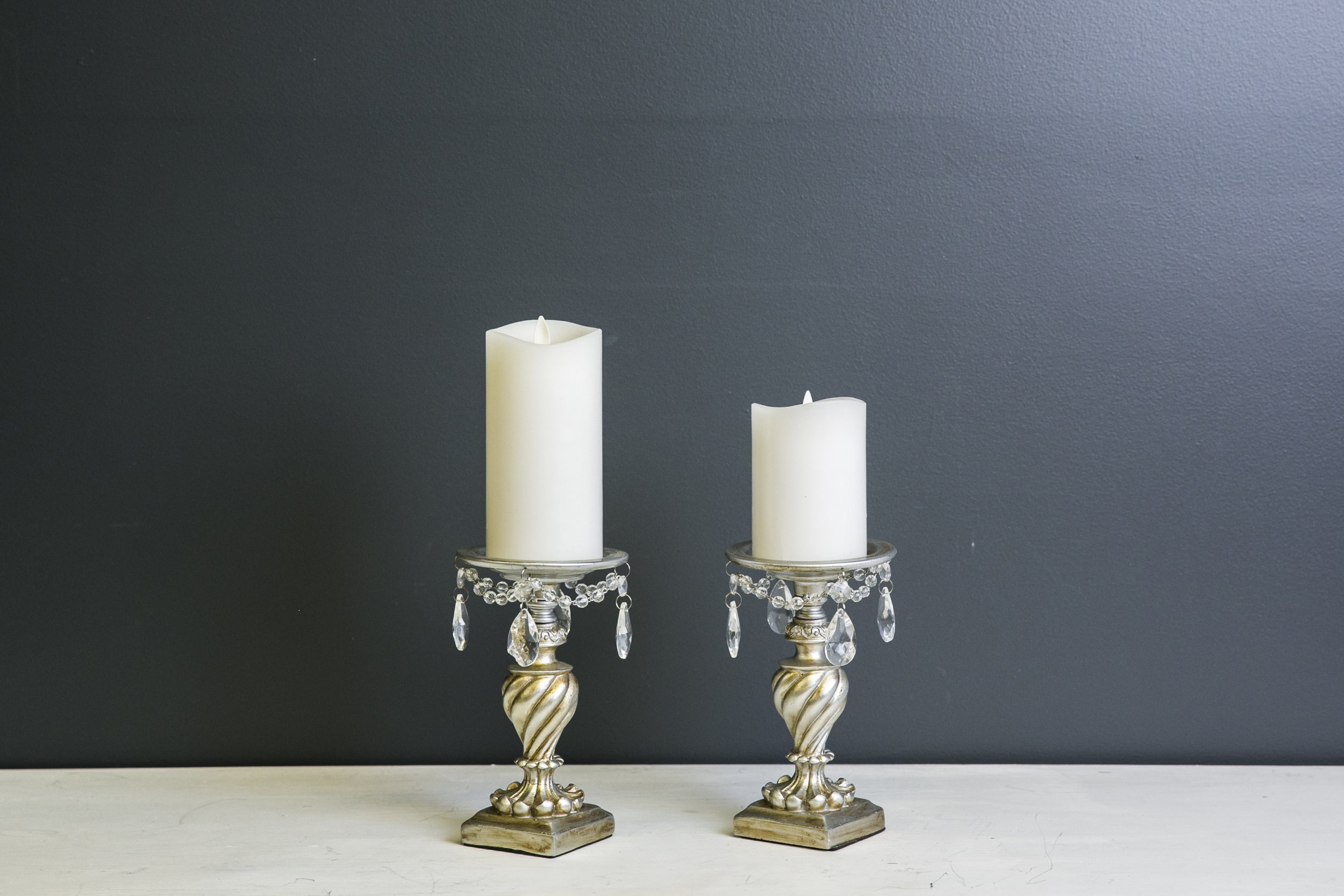 Barrister Pillar Candlesticks (candles not included)