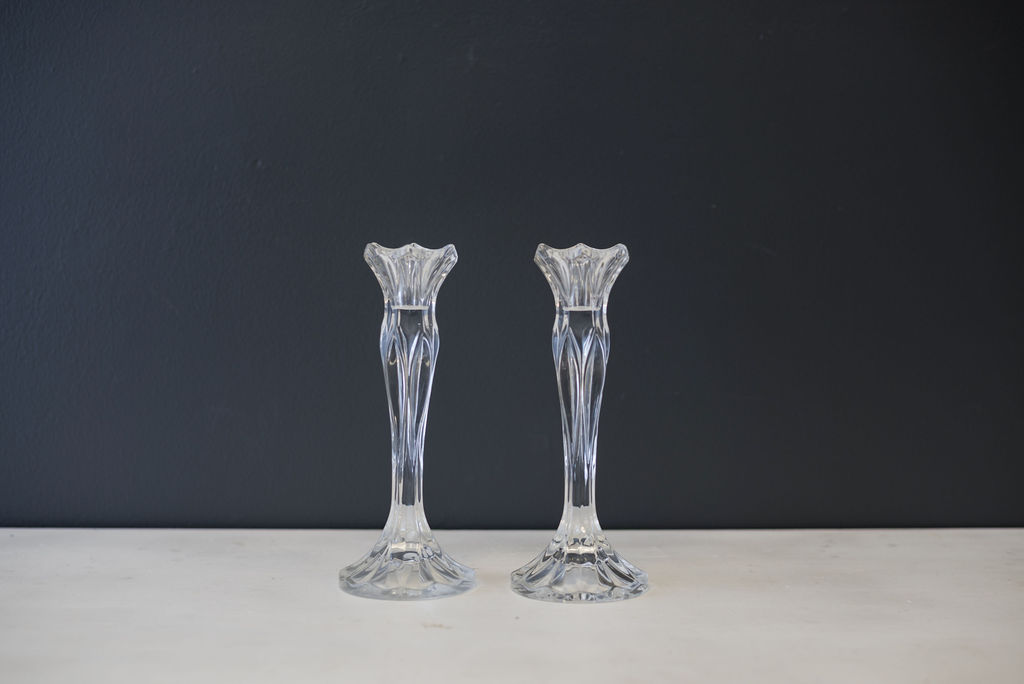 Crystal Taper Candlesticks