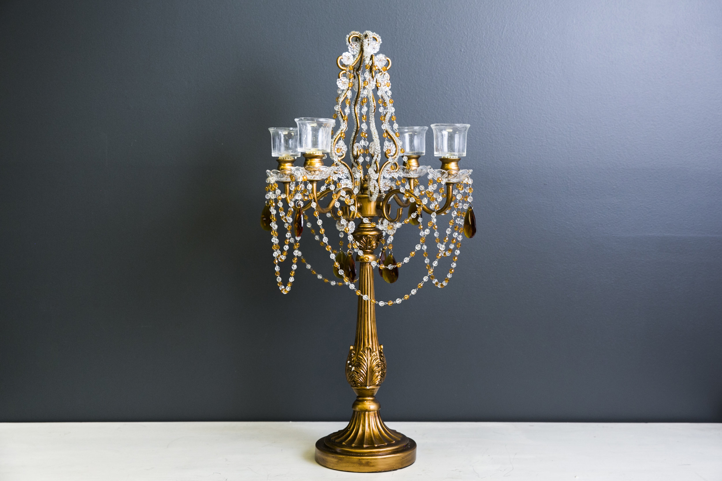 Lucy 4-arm Candelabra - Gold