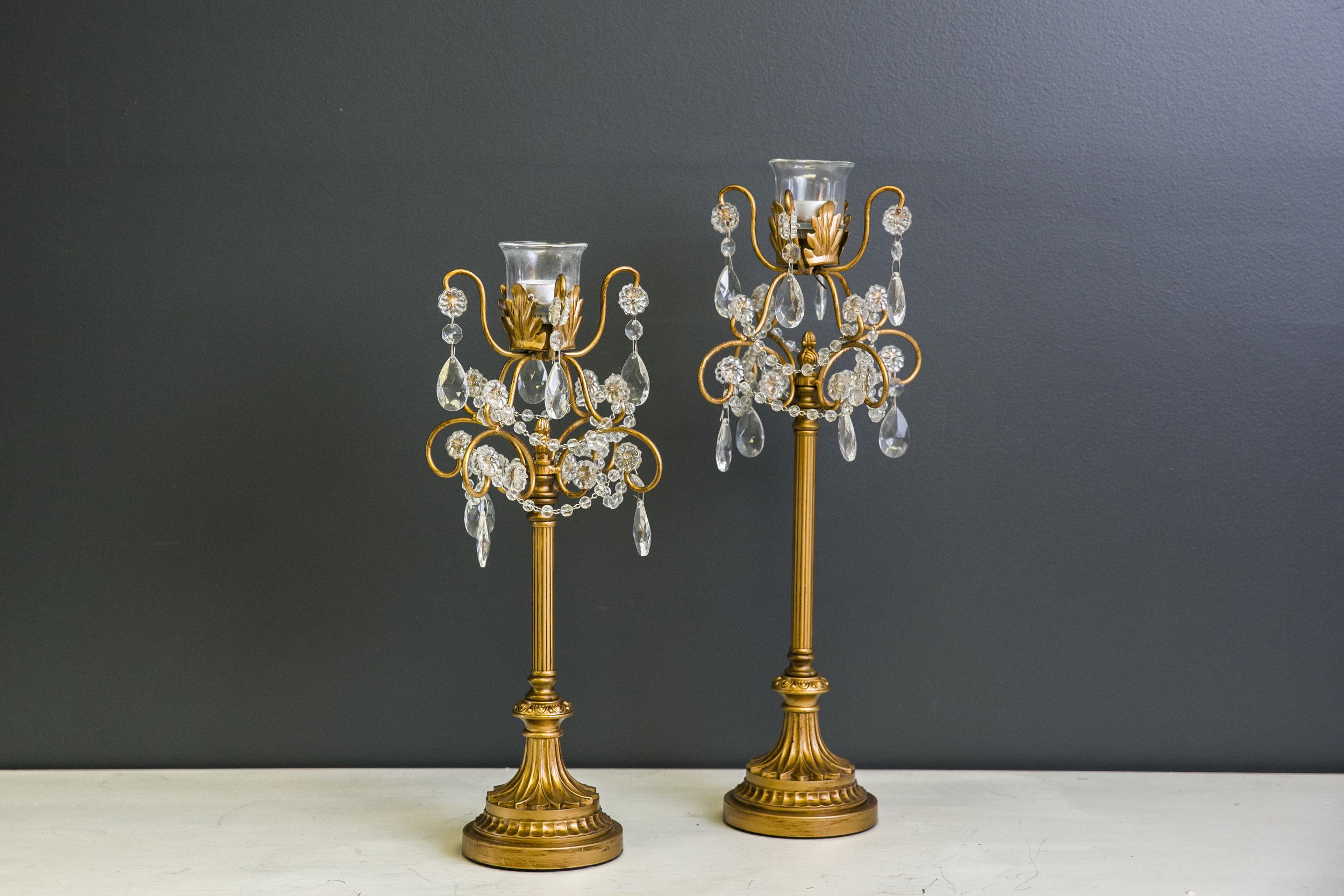 Roxie Duo Candelabra Set - Gold