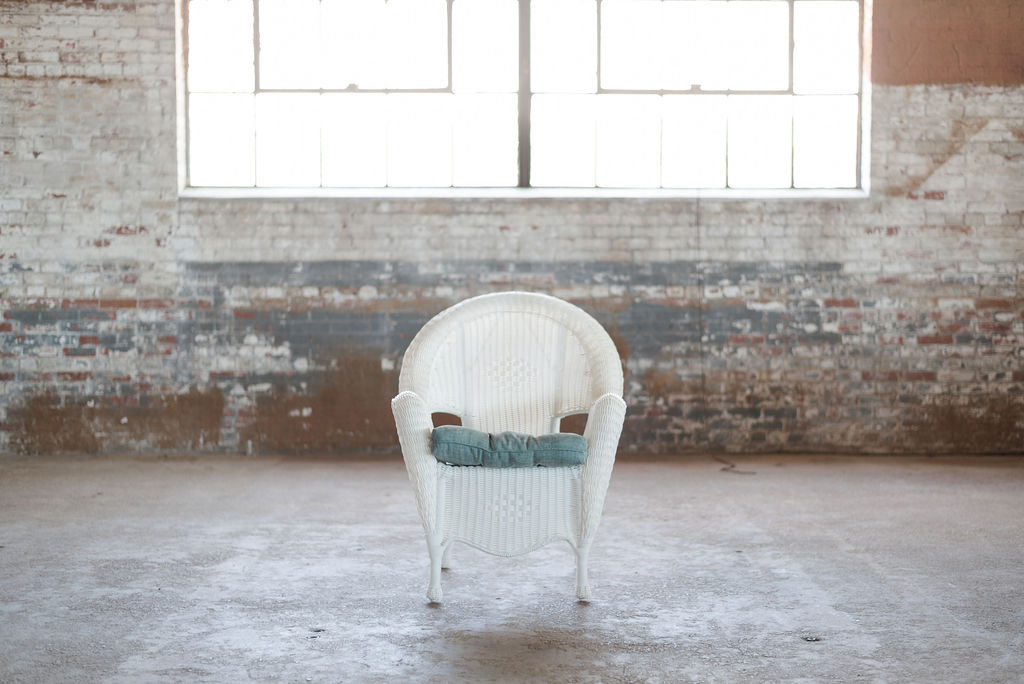 Pearl White Wicker Chair