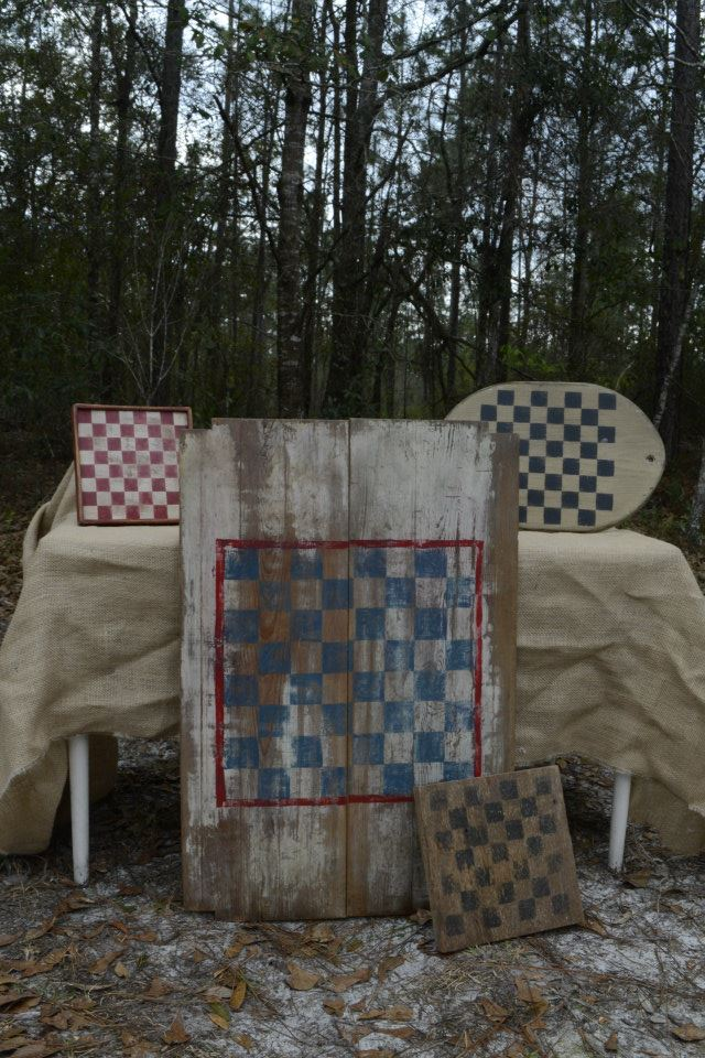 Vintage Checkers Board