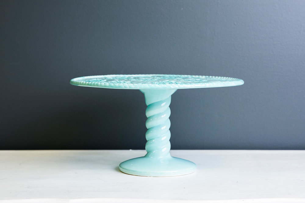 Alvin Cake Stand Plate - Mint Green