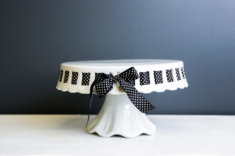 Angie Cake Stand Plate - White