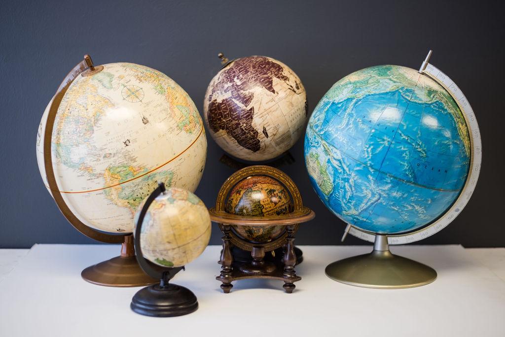 Assorted Vintage Globes