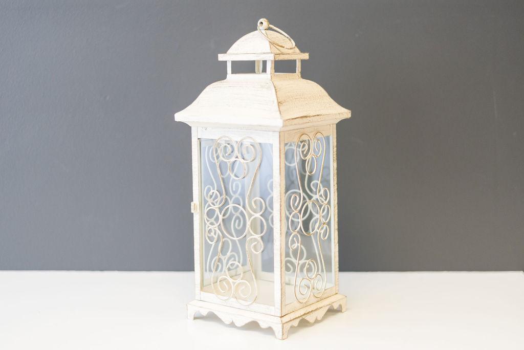 Magdeline Lantern - Vintage Ivory