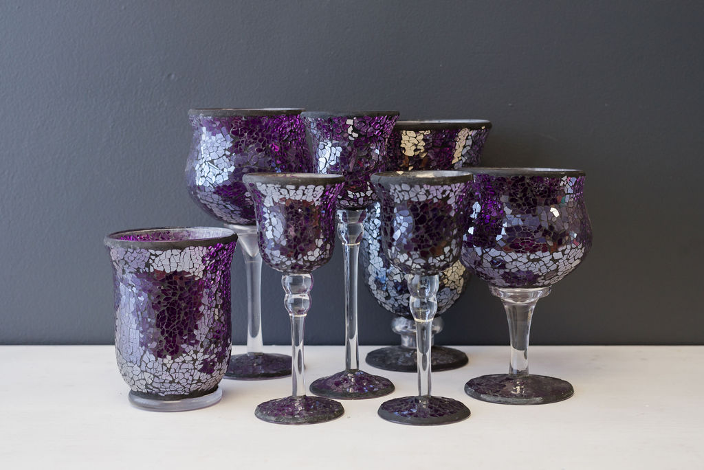Purple Crackle Glass Collection