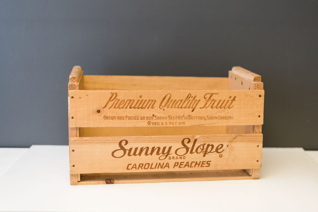 Sunny Slope Peaches Crate