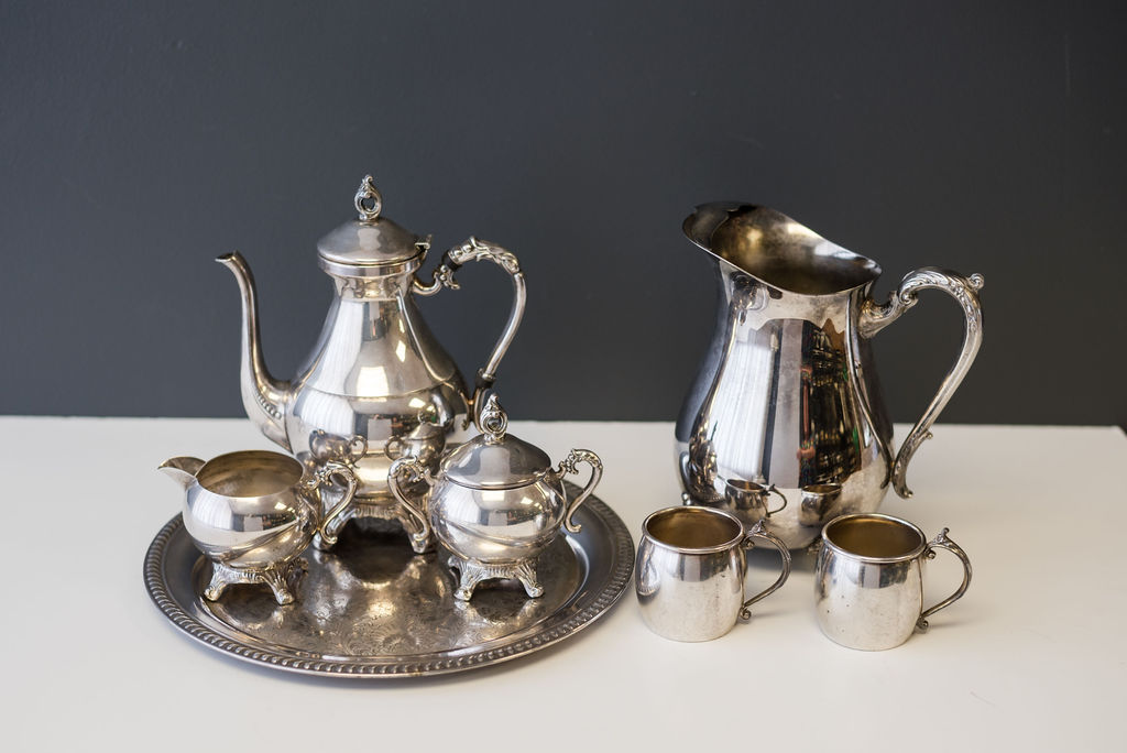 Assorted Silver Tea Sets and mismatched pieces