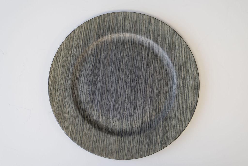 Ahab Faux Driftwood Charger (Blue Grey Wood)