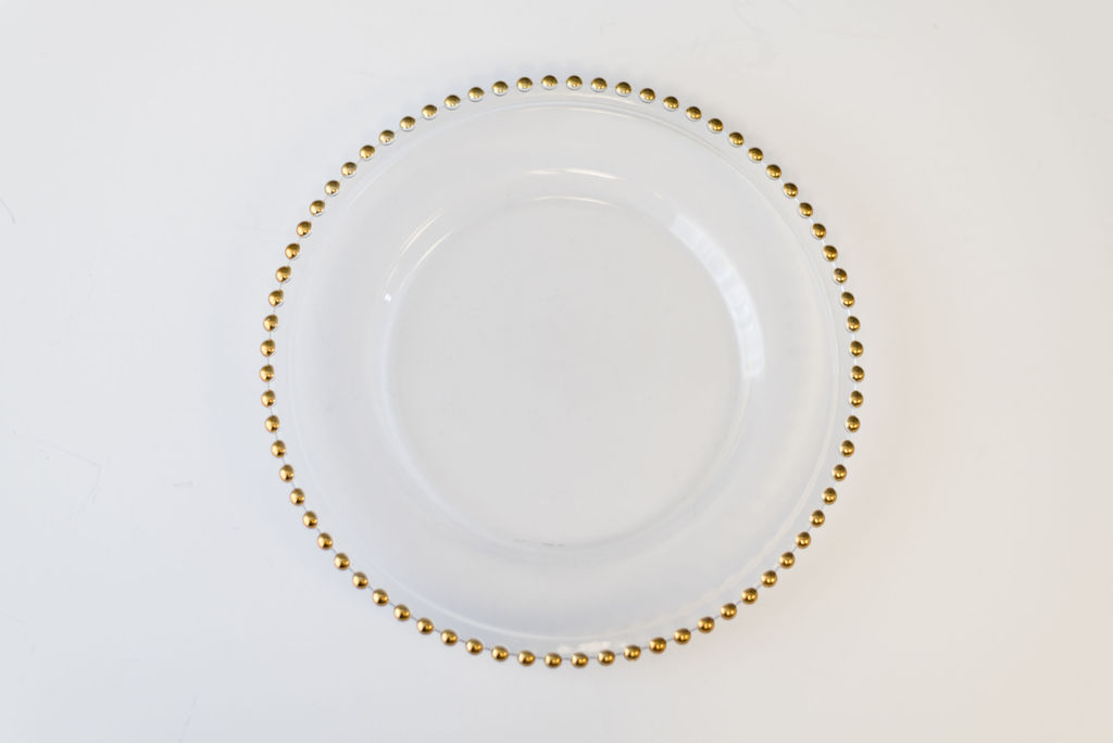 Estelle Gold Beaded Glass Charger