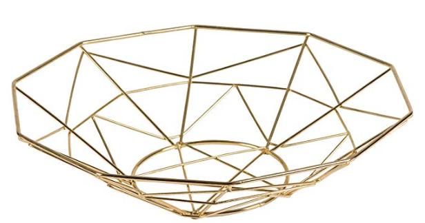Gold Bread Basket - Geometric - Deco