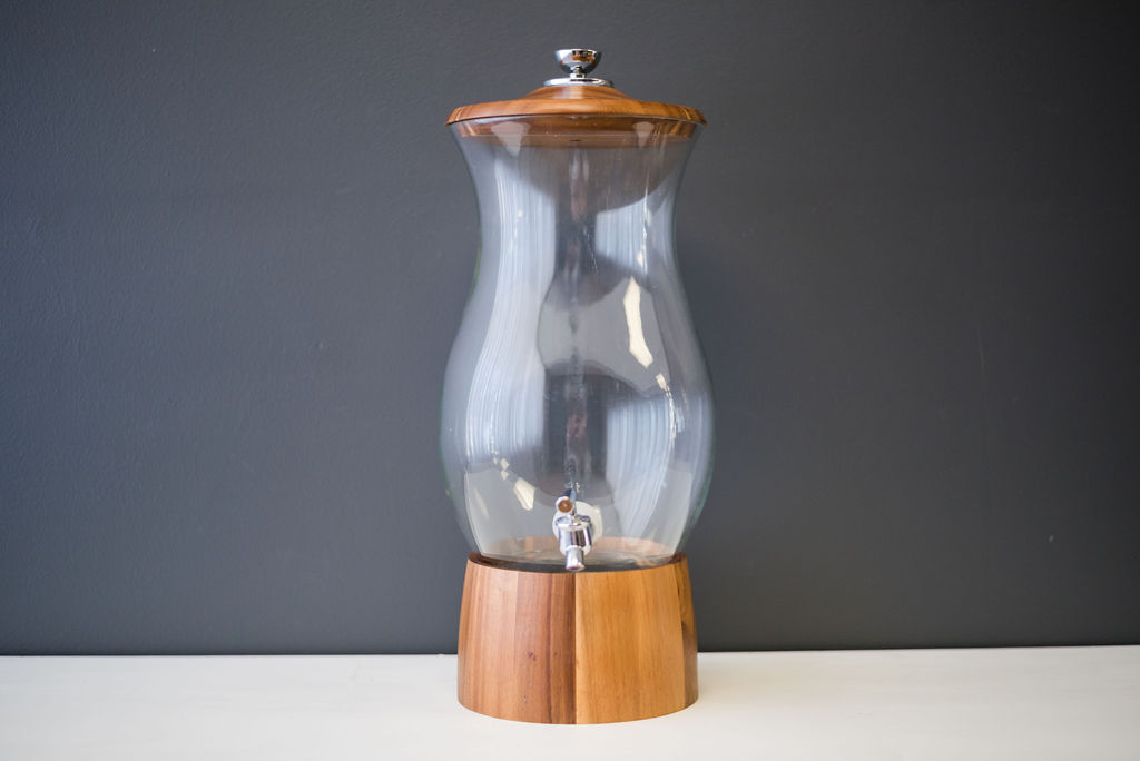 Ichabod Wood and Glass Beverage Dispenser