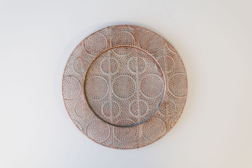Valencia Copper Metal Charger