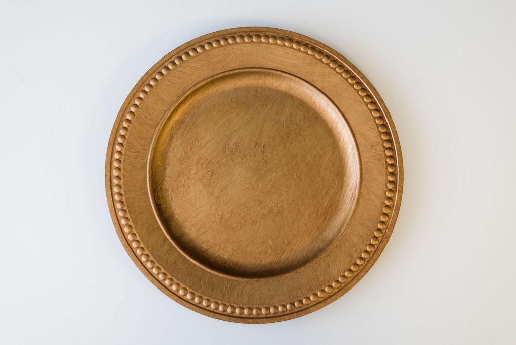 Zeus Antique Gold Charger