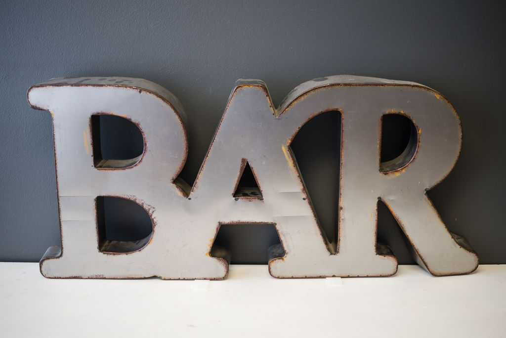 Metal Bar Sign (20 inches)