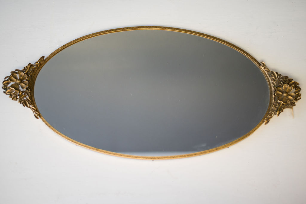 Petunia Mirrored Tray (Gold)