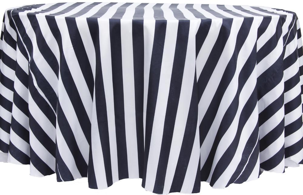 120R Black and White Satin Linen