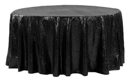 120R Linen Black Sequin Glitz