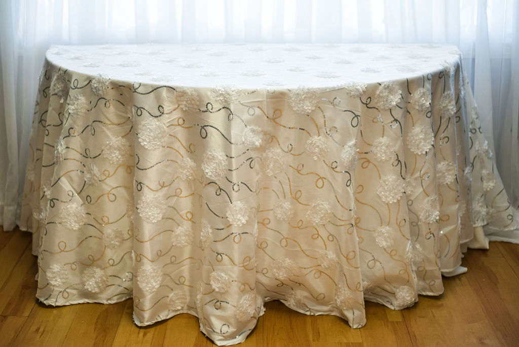 120R White Satin Bridely Linen