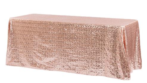 Blush Diamond Glitz Sequin 90x156 Linen