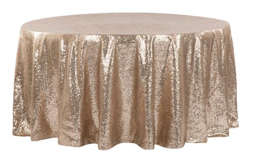 Champagne Diamond Sequin Glitz - Linen 120R
